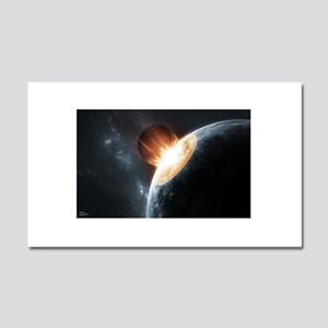 Collision on Earth Car Magnet 20 x 12