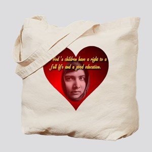 Right to full life and a good education Tote Bag