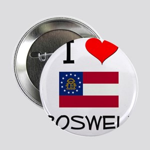 "I Love ROSWELL Georgia 2.25"" Button"