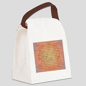 Psalm 91 Orange Script Canvas Lunch Bag