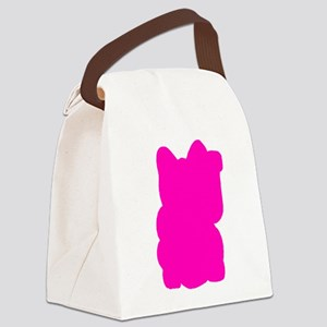 Hot P.I.N.K. Lucky Cat Canvas Lunch Bag