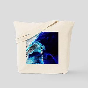 blue waves  surfer Tote Bag