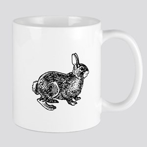 Cottontail Rabbitt (line art) Mugs
