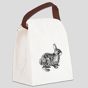 Cottontail Rabbitt (line art) Canvas Lunch Bag