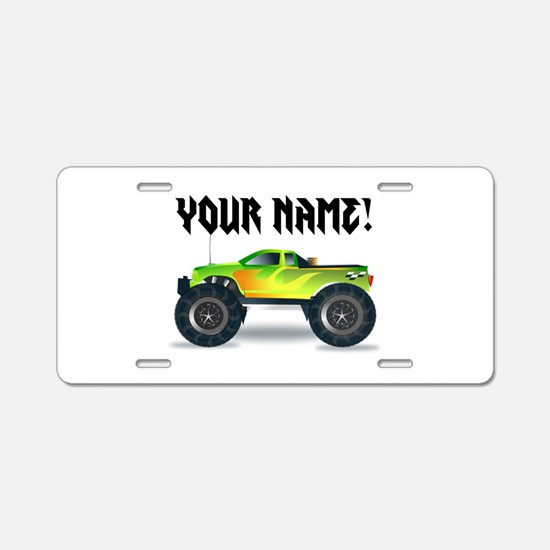 Personalized Monster Truck Aluminum License Plate