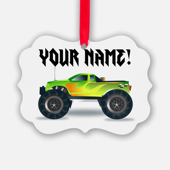 Personalized Monster Truck Ornament