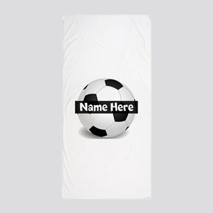 Personalized Soccer Ball Beach Towel