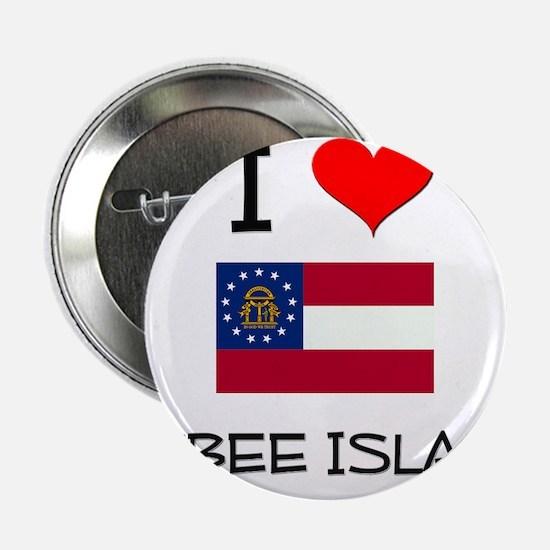 "I Love TYBEE ISLAND Georgia 2.25"" Button"