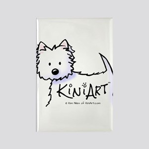 KiniArt Promo Westie Rectangle Magnet