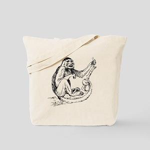 Capuchin Monkey Sketch Tote Bag