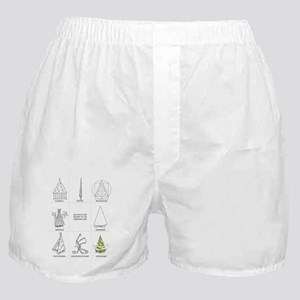 Architecture History of Christmas Tre Boxer Shorts