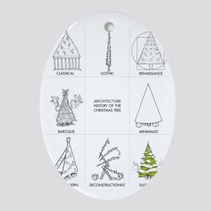 Architecture History of Christmas Tr Oval Ornament