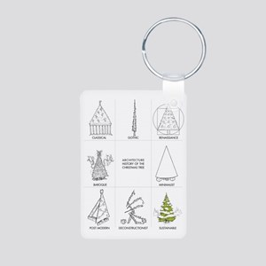 Architecture History of Ch Aluminum Photo Keychain