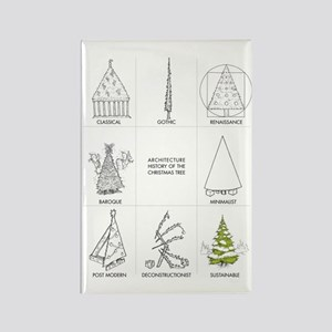 Architecture History of Christmas Rectangle Magnet