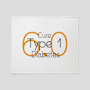 Cure Type 1 Diabetes 6.0 Throw Blanket