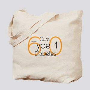 Cure Type 1 Diabetes 6.0 Tote Bag