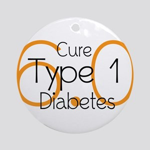 Cure Type 1 Diabetes 6.0 Ornament (Round)