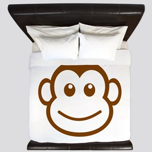 Brown Monkey Face King Duvet