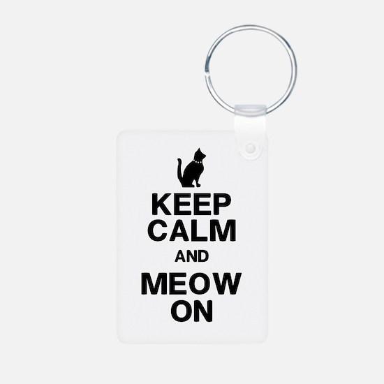 Keep Calm Meow On Keychains