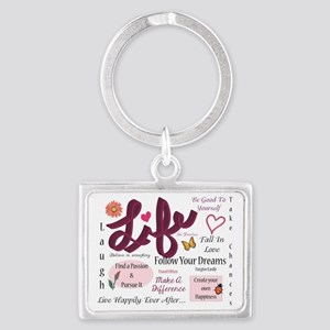 Life Lessons Landscape Keychain