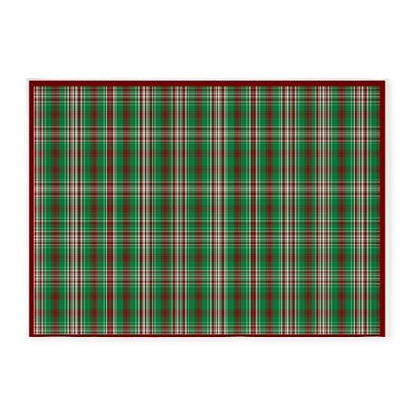 christmas plaid 5 39 x7 39 area rug by gezipsupport. Black Bedroom Furniture Sets. Home Design Ideas