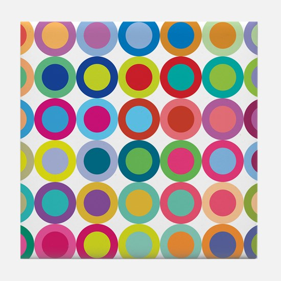 Colour Mix Tile Coaster