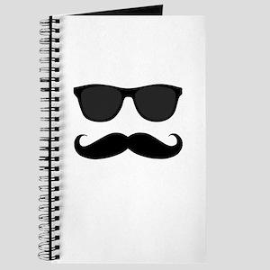 Black Mustache and Sunglasses Journal
