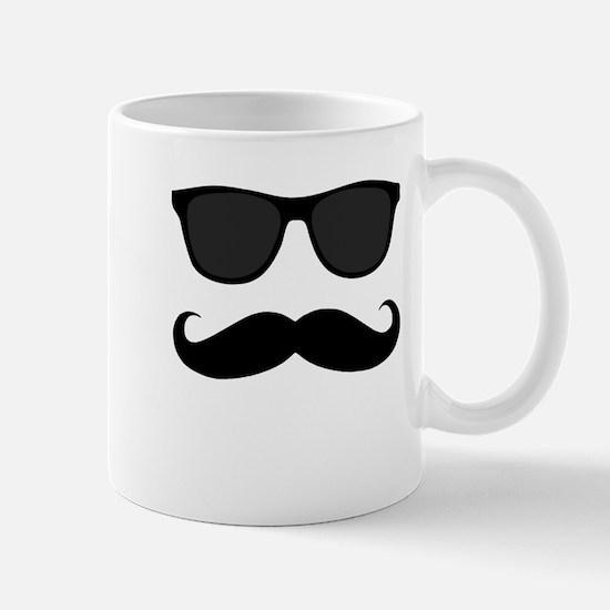 Black Mustache and Sunglasses Mugs