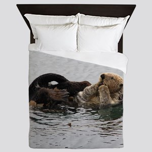 California Sea Otter Queen Duvet
