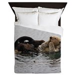 California Sea Otter Queen Duvet