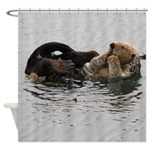 California Sea Otter Shower Curtain