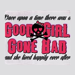 Good Girl Gone Bad Throw Blanket