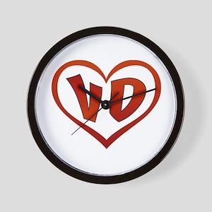 VD Heart Wall Clock