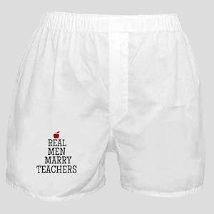 Real Men Marry Teachers Boxer Shorts