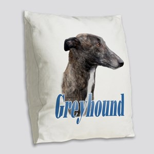 Greyhound Name Burlap Throw Pillow