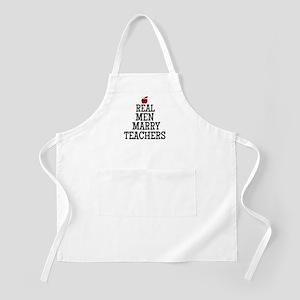 Real Men Marry Teachers Apron