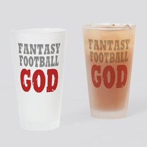 Fant Football GOD Drinking Glass