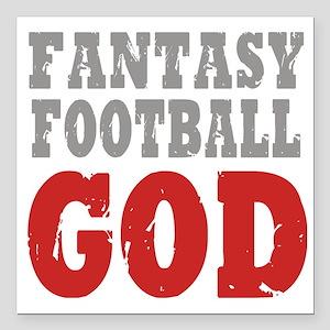 "Fant Football GOD Square Car Magnet 3"" x 3"""