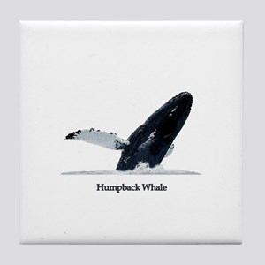 Humpback Whale (breaching) Tile Coaster