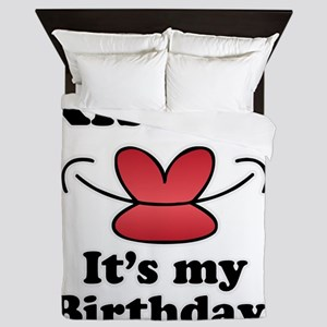 Kiss Me It's My Birthday Queen Duvet