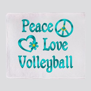 Peace Love Volleyball Throw Blanket