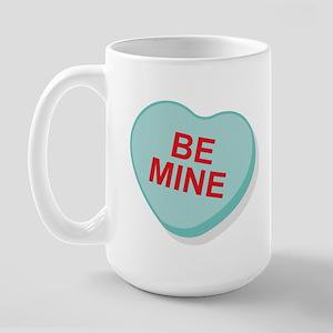 Be Mine Candy Heart Large Mug