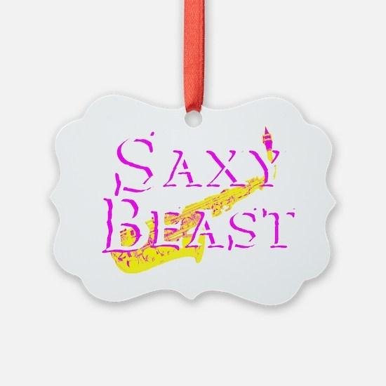 Saxy Beast 4 Blk PNG Ornament