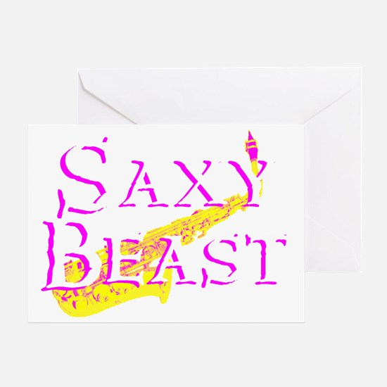 Saxy Beast 4 Blk PNG Greeting Card