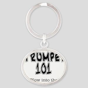Trumpet 101 Oval Keychain