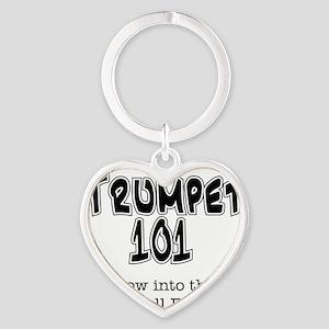 Trumpet 101 Heart Keychain