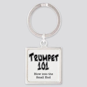 Trumpet 101 Square Keychain