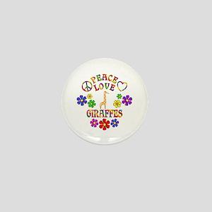Peace Love Giraffes Mini Button
