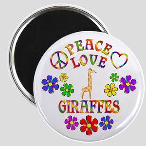 Peace Love Giraffes Magnet