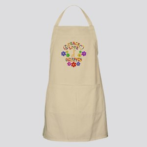 Peace Love Giraffes Light Apron